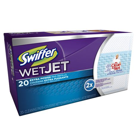 Swiffer WetJet Hardwood Floor Cleaner, Spray Mopping Pad Refills have a new ABSORB + LOCK STRIP that helps trap dirt & grime deep in the cleaning pad so it doesn't get pushed around. When youre done, just remove the pad and throw it, and all that dirt, away forever.