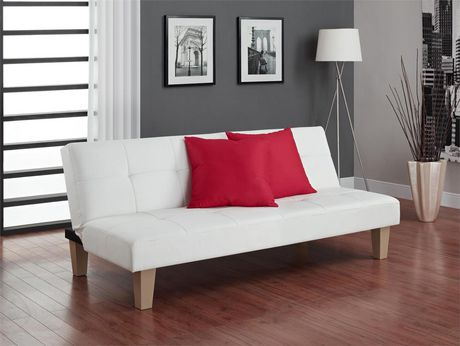 DHP Aria White Futon Sofa Bed Walmartca