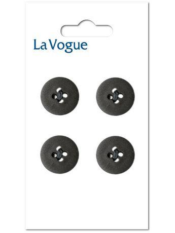 LaVogue La Vogue 14 mm 4-Hole Button - Black - image 1 of 2