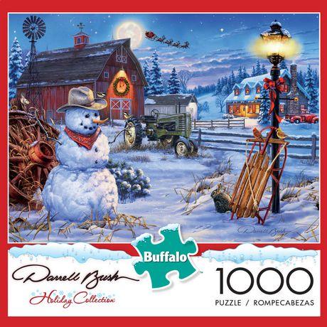 Buffalo Games Darrell Bush Le puzzle Country Christmas en 1000 pièces - image 1 de 3