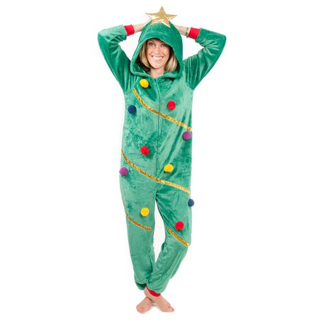 53e4f9218fa3 George Ladies  Holiday Christmas Tree Onesie