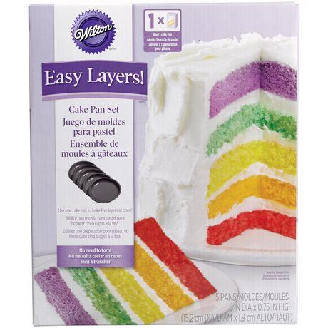 Ensemble de 5 moules à gâteau ronds Easy Layers de Wilton - image 1 de 7