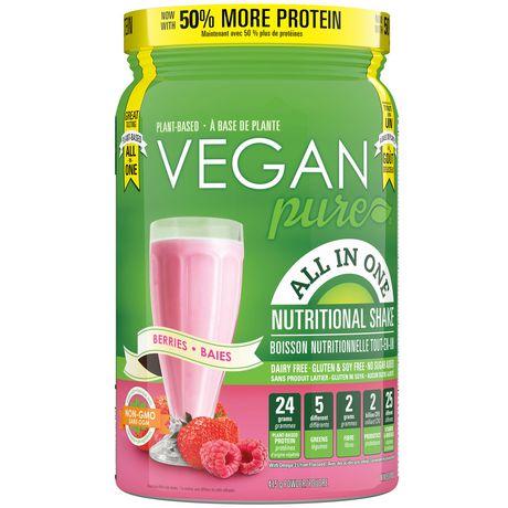 Boisson nutritionelle protéinée Tout-en-un Vegan Pure Baies en poudre - image 1 de 2