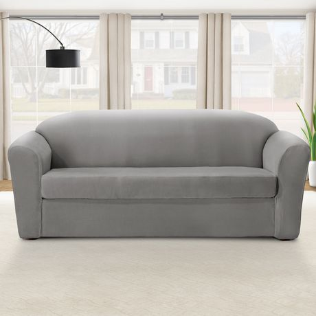 Housse extensible pour canap eastwood de sure fit for Housse divan walmart