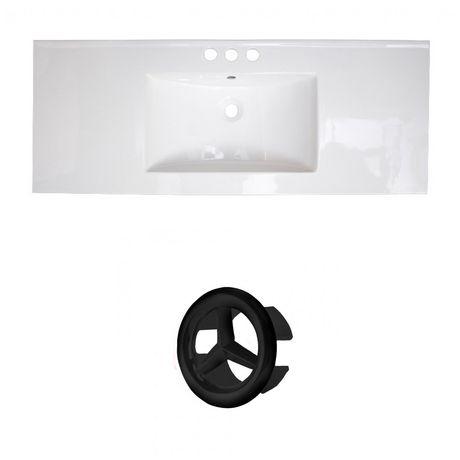 American Imaginations 48.75-in. W Ceramic Top Set White - image 1 of 6