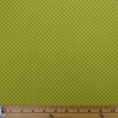 Tissu au m tre en coton fabric creations imprim de pois verts walmart ca - Achat de tissus en ligne canada ...