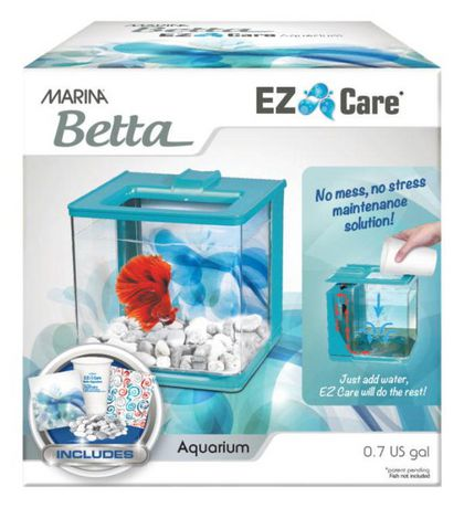 Marina ez care betta kit 2 5l for Fishing kit walmart