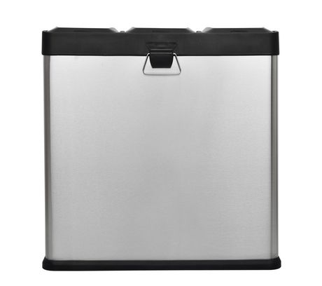 The Point Gallery Step N' Sort 60 Litre 3-Compartment Trash and Recycling Bin - image 4 of 9