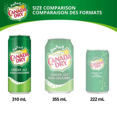 Canada Dry® Ginger Ale 310 mL Cans, 4 Pack - image 5 of 6