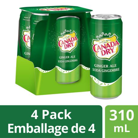 Canada Dry® Ginger Ale 310 mL Cans, 4 Pack - image 1 of 6