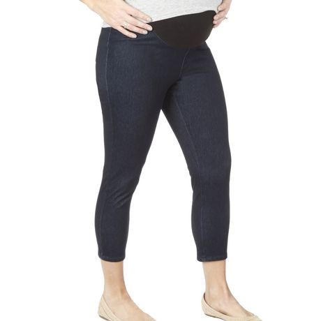 liz lange maternity for target adult womens denim jeggings, retail tag price $, womens tag size medium, dark indigo blue dye color, cotton/polyester/spandex material, inseam measurement is approx.