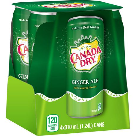 Canada Dry® Ginger Ale 310 mL Cans, 4 Pack - image 3 of 6