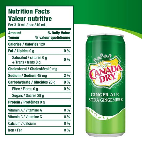 Canada Dry® Ginger Ale 310 mL Cans, 4 Pack - image 6 of 6