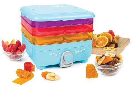 Nostalgia Organic Fruit Roll and Fruit Chip Snack Maker, Blue - image 2 of 8