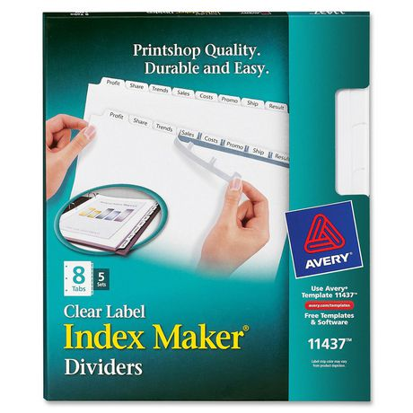 Avery Index Maker Clear Label Divider with Tabs - image 1 of 1