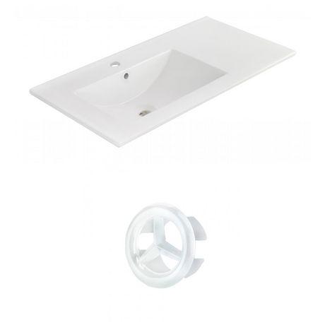 American Imaginations 35.5-in. W Ceramic Top Set White - image 1 of 7