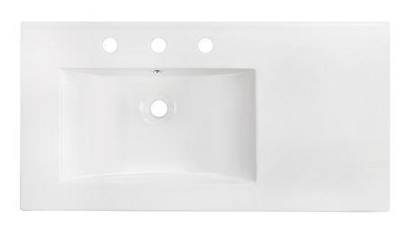 American Imaginations 35.5-in. W Ceramic Top Set White - image 6 of 7