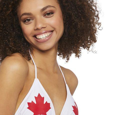 Haut de bikini en triangle fête du Canada George pour femmes - image 4 de 6