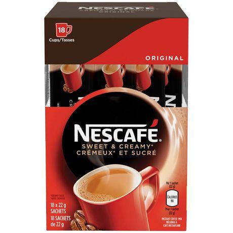 NESCAFÉ Sweet & Creamy Original, Instant Coffee Sachets - image 2 of 8