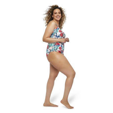 George Plus Women's AOP Wire Plunge 1-Piece Swimsuit - image 2 of 6