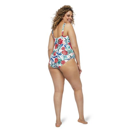 George Plus Women's AOP Wire Plunge 1-Piece Swimsuit - image 3 of 6