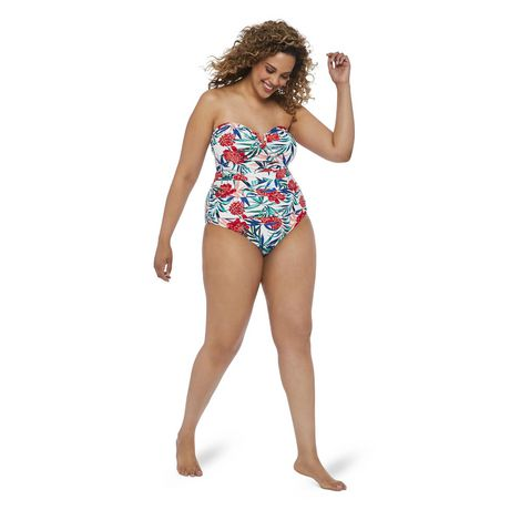 George Plus Women's AOP Wire Plunge 1-Piece Swimsuit - image 5 of 6
