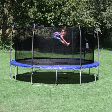Skywalker Trampolines 15' Blue Round Trampoline And Enclosure - image 2 of 8