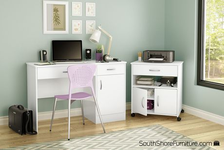 Meuble Rangement Imprimante rangement à imprimante sur roulettes, collection axess de meubles