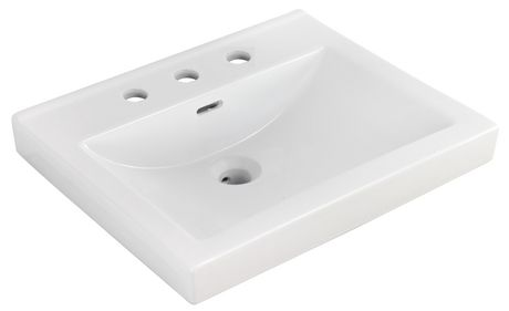 American Imaginations 21.5-in. W Ceramic Top Set White - image 8 of 9