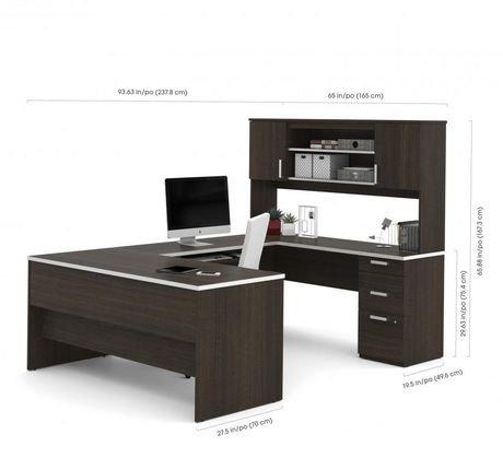Bestar Ridgeley U Shaped Desk Walmart Canada