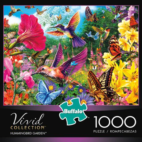 Buffalo Games Vivid Collection Hummingbird Garden 48 Piece Delectable Garden Design Games Collection