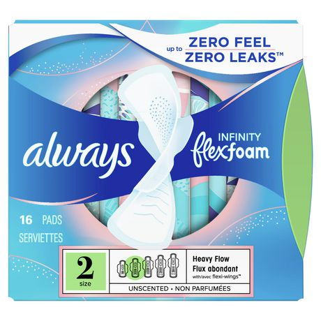 Always Infinity Size 2 Super Pads with Wings, Unscented - image 1 of 7