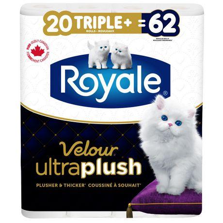 Royale Velour Ultra Plush Toilet Paper, 20 Triple plus equal 62 rolls - image 1 of 9