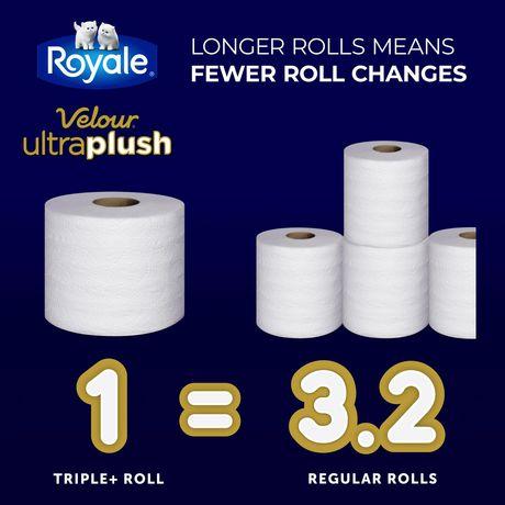 Royale Velour Ultra Plush Toilet Paper, 20 Triple plus equal 62 rolls - image 6 of 9