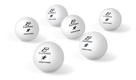 40 mm 1 Star White Table Tennis Balls - 6's - image 1 of 2