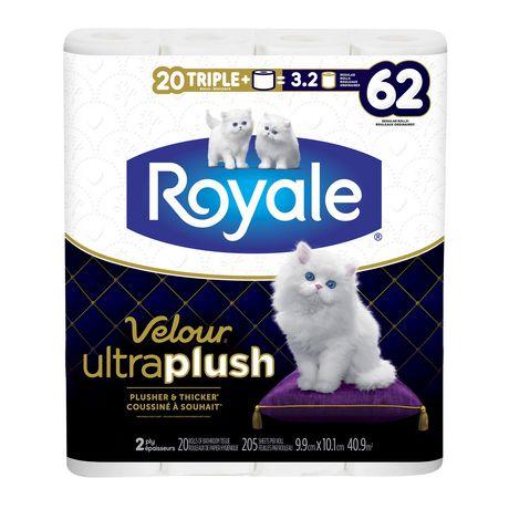 Royale Velour Ultra Plush Toilet Paper, 20 Triple plus equal 62 rolls - image 7 of 9