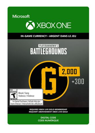 Xbox One PLAYERUNKNOWN'S BATTLEGROUNDS 2,300 G-Coin [Download]