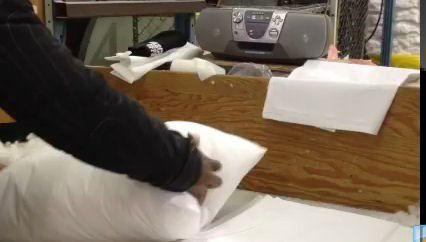 Oreiller pour lit HomeTex à couverture en tissu - image 6 de 7
