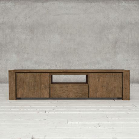 Urban Woodcraft 72'' Tuscany Reclaimed Teak Dark TV Stand - image 2 of 4