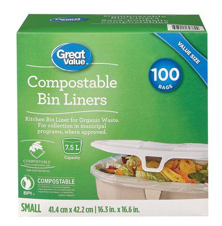 Sacs poubelle Great Value pour déchets compostables - image 1 de 1