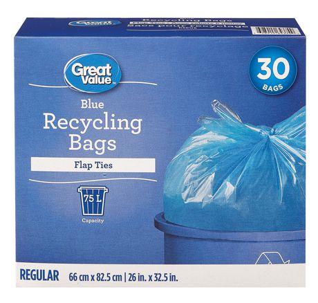 Great Value sacs de recyclage transparent bleus   Walmart Canada daa72a26cea