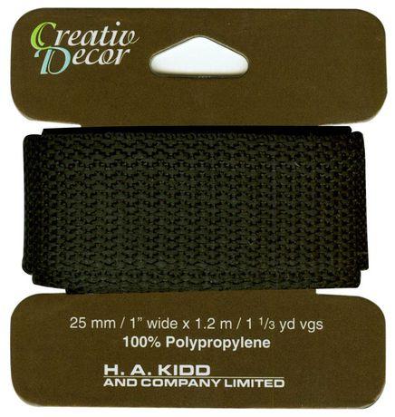 Creativ Décor Webbing 25 mm X 1.2m - Black - image 1 of 2