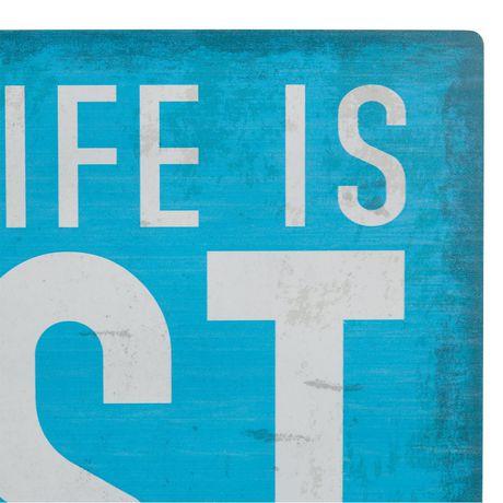 Panneau métallique sentiment Canadiana à imprimé « Lake Life Is Best » - image 3 de 4