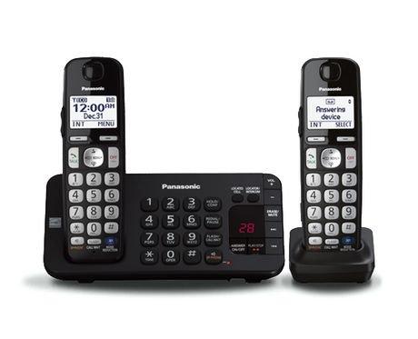 Panasonic KX-TGE242C Digital Cordless Phone with Answering ...