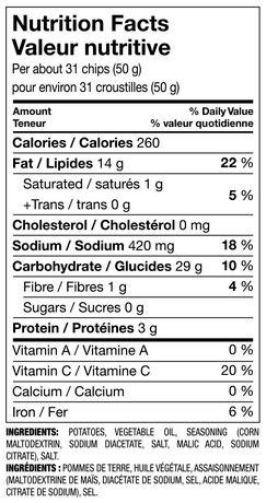 Great Value Salt & Vinegar Flavoured Potato Chips - image 2 of 2