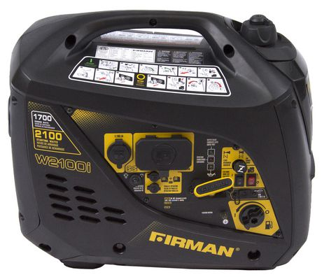Firman Power Equipment W01781 Gas Powered 2100/1700 Watt (whisper Series) Extended Run Time Inverter Generator - image 1 of 7