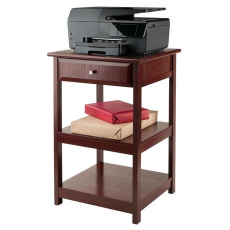 table pour imprimante delta de winsome en noyer 94121 walmart canada. Black Bedroom Furniture Sets. Home Design Ideas