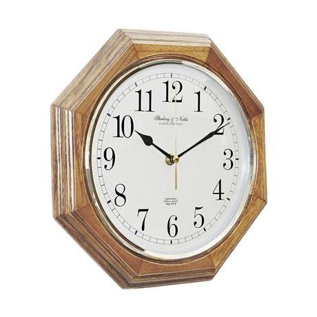 11 5 Quot 29 2 Cm Wood Octagon Clock Walmart Canada