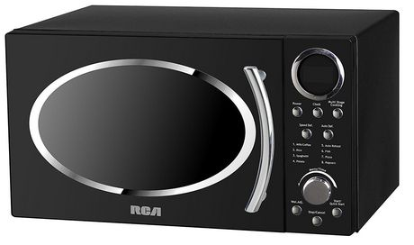 Rca Rmw987 Black 0 9 Cu Ft Retro Microwave Black