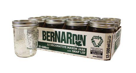 Bernardin Decorative Mason Jar Wm 500ml Walmart Canada